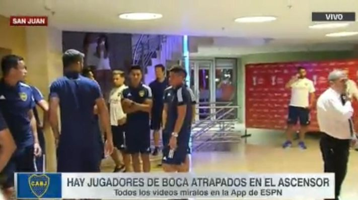 Gran susto para varios futbolistas de Boca.