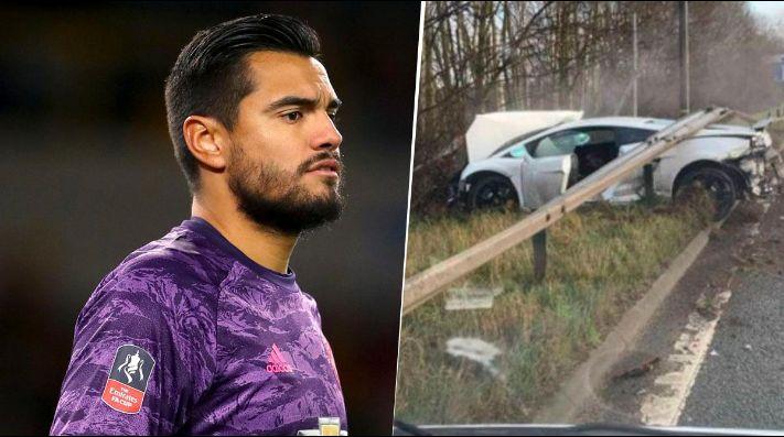Se accidentó Sergio Romero yendo a entrenar con Manchester United