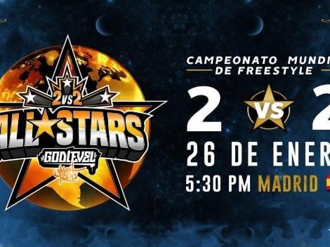 Cómo ver en vivo la final de God Level All-Stars 2v2 World Edition Madrid