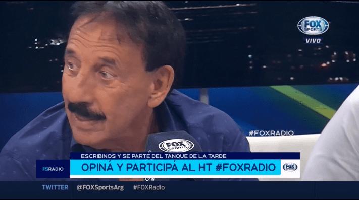 A Roberto Leto le pusieron el gol del Pity Martínez con River y se fue en vivo