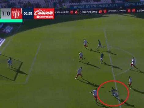 Jean Meneses marca el 1-0 para que León le esté ganando a Necaxa