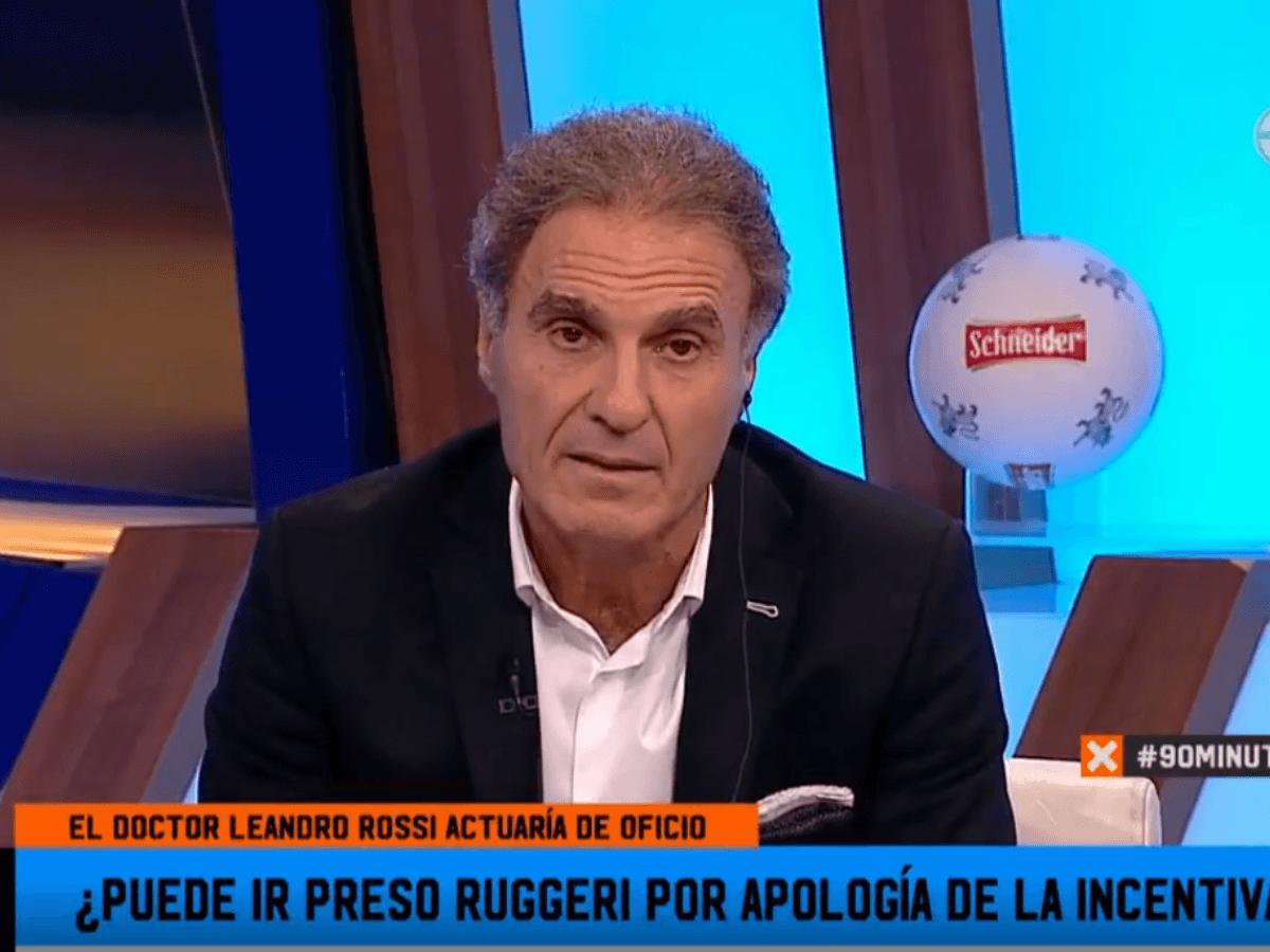 """90 Minutos De Futbol En Vivo Por Internet en 90 minutos a ruggeri lo cruzaron con un """"abogado"""" en vivo"""