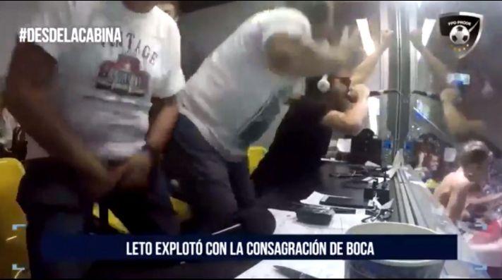 Video: Leto enloqueció con el título de Boca y se agarró 'ahí abajo' frente a la cámara