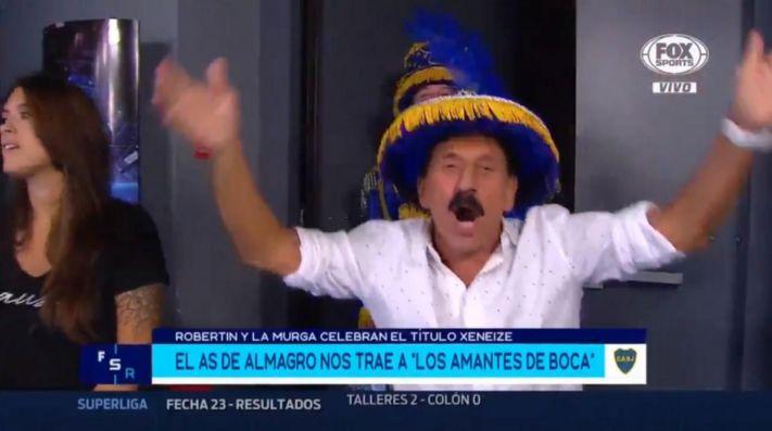 Está loco: Leto entró con una murga para festejar el campeonato de Boca