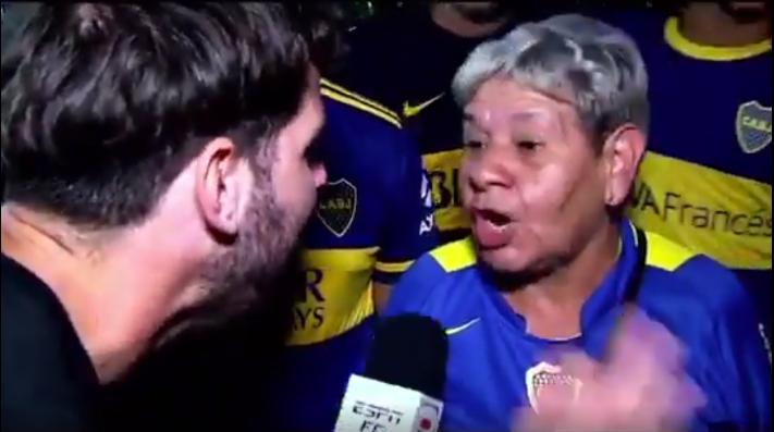 """Una hincha de Boca al Ruso Zielinki: """"Le beso los hue..."""""""