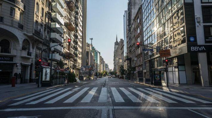 Así están las calles de Buenos Aires.