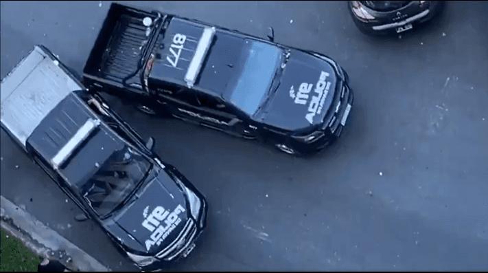Argentina: no había nadie en la calle, pero estos dos patrulleros chocaron igual