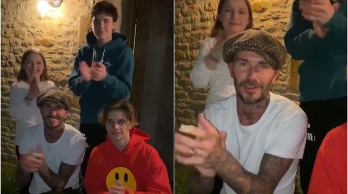 Así reconoce Beckham y su familia a los trabajadores de la salud