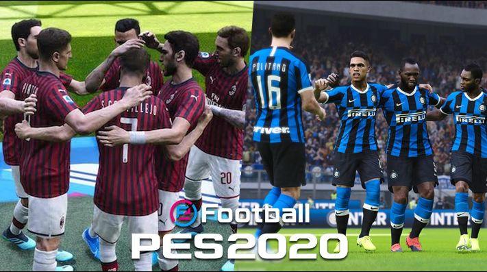 Inter y Milan jugarán el DerbyMilano en el PES 2020 este fin de semana