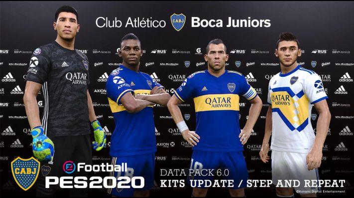 Konami actualizó las camisetas oficiales de Boca en el PES 2020