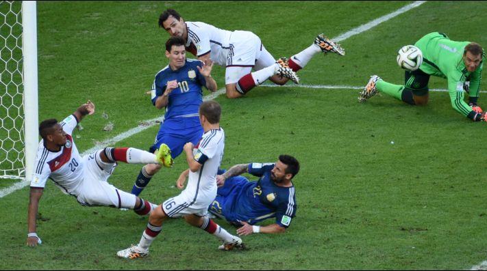 Foto de Ezequiel Lavezzi en el Mundial de Brasil.
