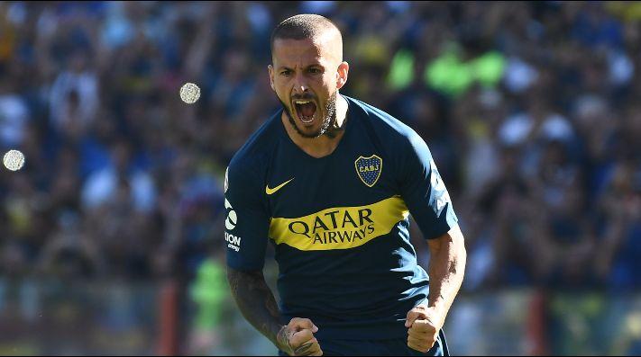 El Pipa Benedetto le tiró un centro a Boca: