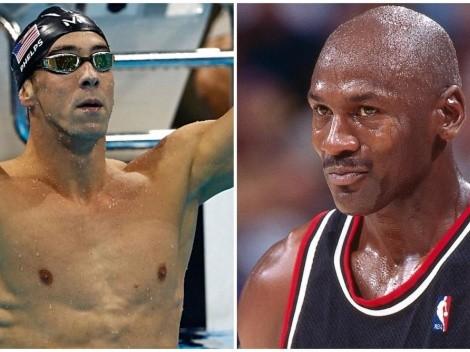 Michael Phelps dice ser tan despiadado como Michael Jordan
