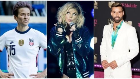 Megan Rapinoe, Fergie and Ricky Martin.
