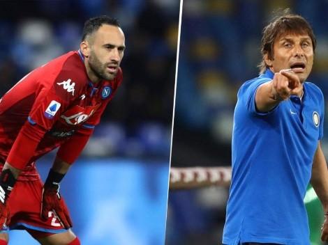 """Antonio Conte se rinde a los pies de Ospina: """"Salvó todo... De lejos, la figura"""""""