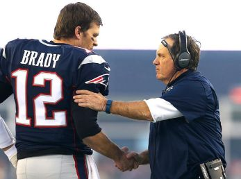 Tom Brady y Bill Belichick (Getty Images)