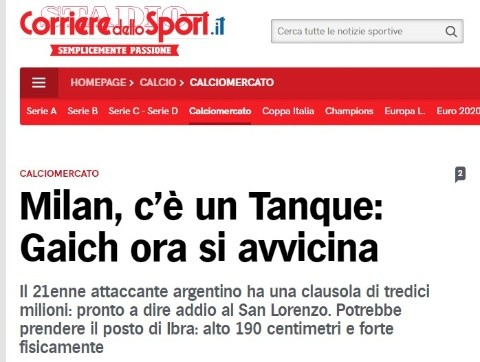 Así lo indica la prensa italiana.
