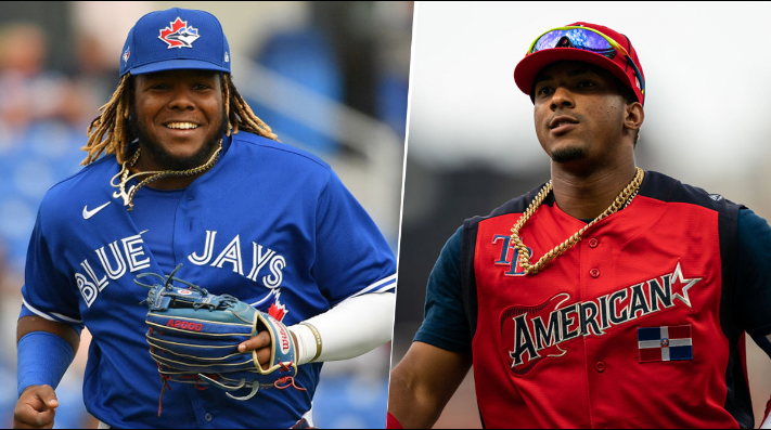 Vladimir Guerrero Jr. y Wander Franco (Getty Images)