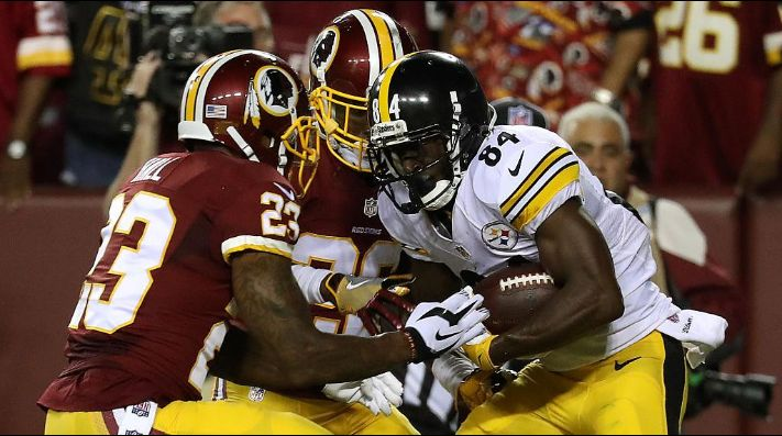 Redskins y Steelers (Getty Images)