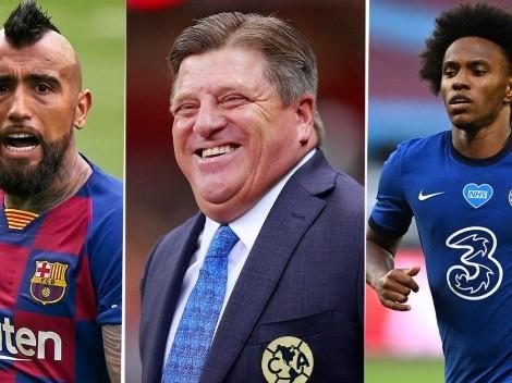 Herrera descartó los fichajes de Arturo Vidal y Willian