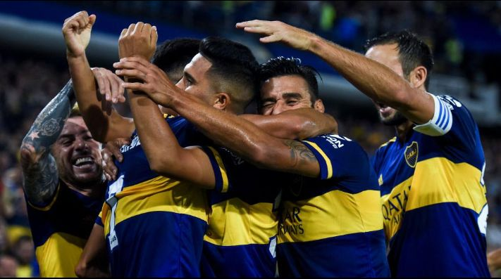 Boca en su último partido como local. (Getty)