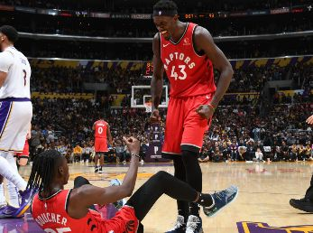 Toronto Raptors ante Los Angeles Lakers (Getty)