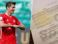 Filtran fotos del contrato que Real Madrid le ofreció a Lewandowski