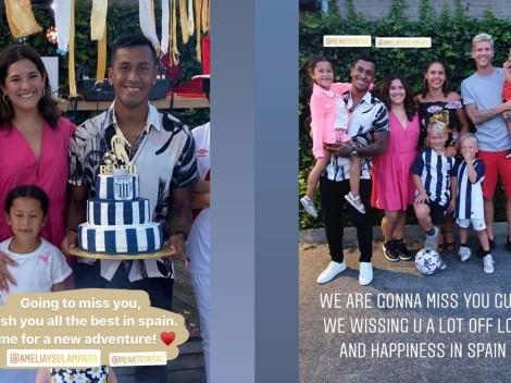 Aliancista: Renato Tapia fue recibido con torta blanquiazul en su despedida