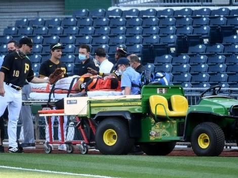 Pelotero de las Grandes Ligas quedó noqueado y salió en ambulancia