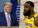 Donald Trump y LeBron James (Getty Images)
