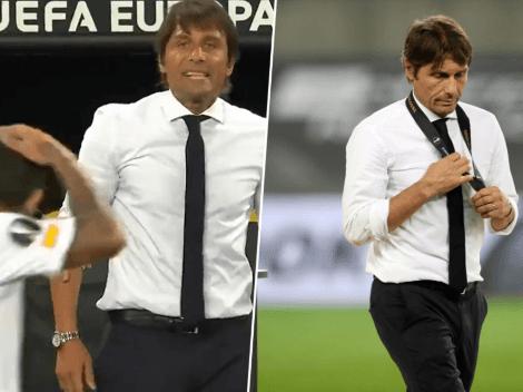 Video: Banega se burló del pelo de Conte y desató la furia del técnico de Inter