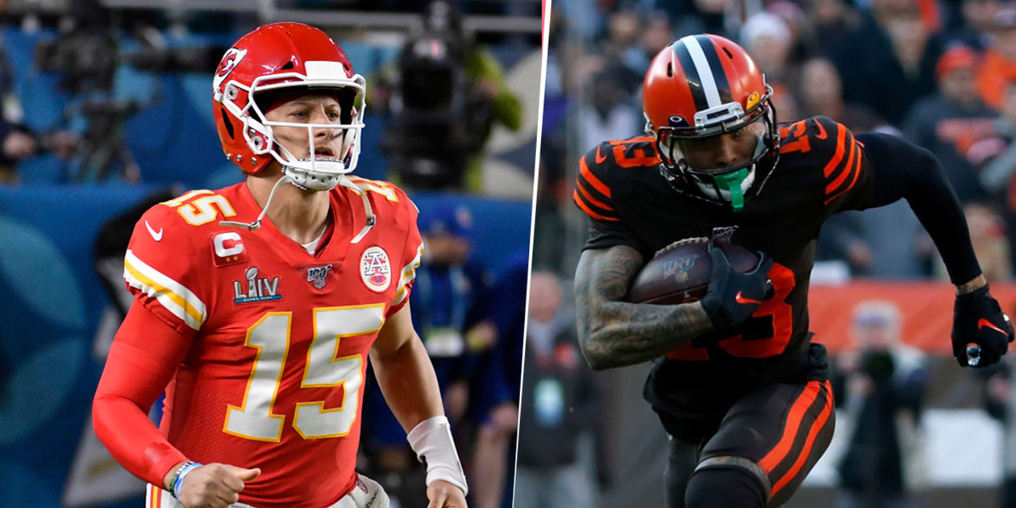 Patrick Mahomes y Odell Beckham Jr.(Getty Images)