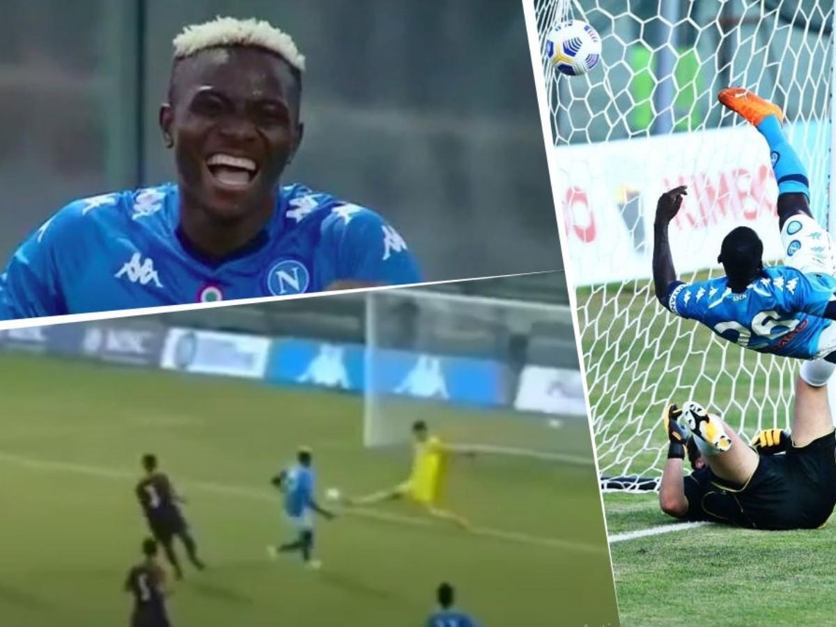 Video Victor Osimhen Debuto En Napoli E Hizo 3 Goles En 8 Minutos Bolavip