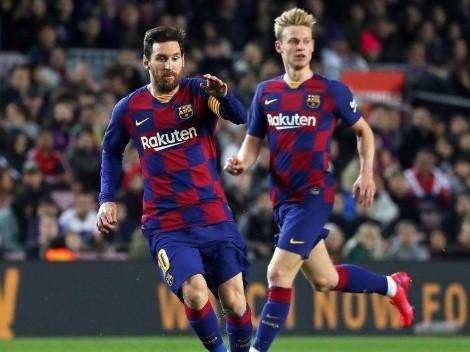 """De Jong: """"Estoy muy feliz de que Messi se quede"""""""