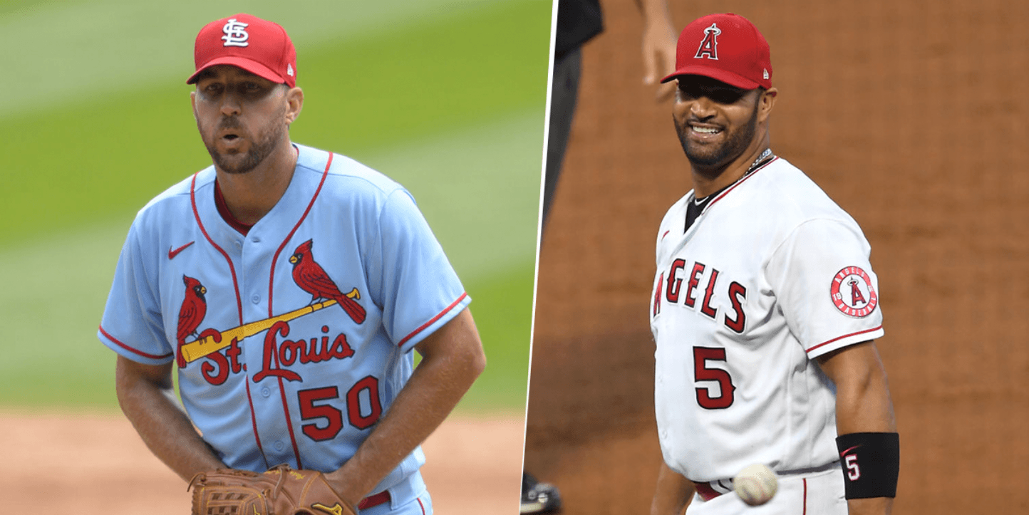 Adam Wainwright y Albert Pujols (Getty Images)