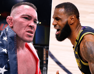 Colby Covington y LeBron James (Getty Images)