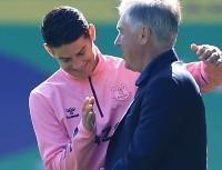 """Ancelotti presume con su jugador favorito: """"Con James, Cristiano hizo 56 goles"""""""
