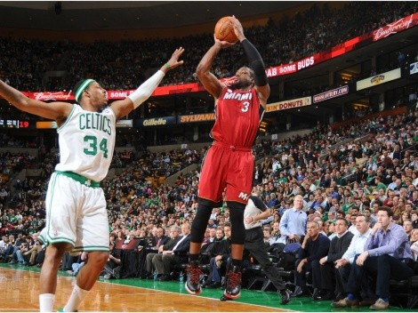Dwyane Wade clowns Paul Pierce as Heat beat the Celtics