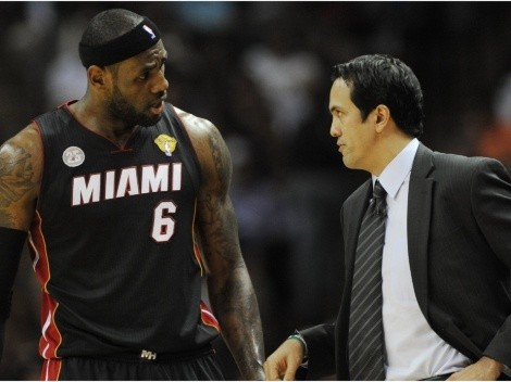 Erik Spoelstra gives a blunt response on facing LeBron James in the Finals