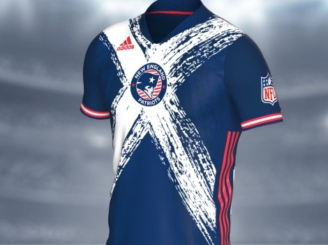 The New England Patriots show American pride in these soccer jerseys