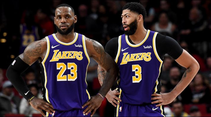 LeBron James y Anthony Davis en Los Angeles Lakers