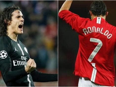Edinson Cavani takes over Cristiano Ronaldo's 'cursed' No.7 jersey at Manchester United