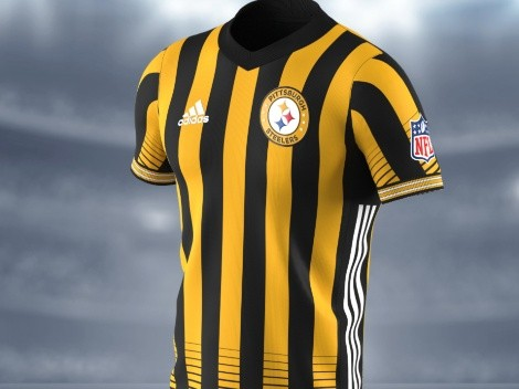 The hard-working Pittsburgh Steelers put in the work in these classic soccer jerseys