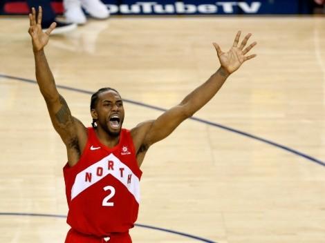Kawhi Leonard and his NBA rings!