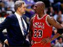 Phil Jackson y Michael Jordan en Chicago Bulls