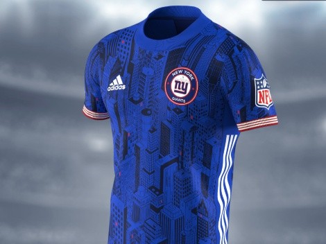 Big Blue New York Giants soccer jersey