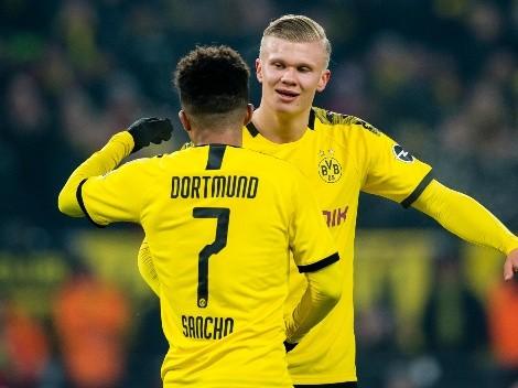 Manchester United pagaría una fortuna para quedarse con Sancho y Haaland