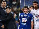 Para ver mil veces: los emocionantes saludos de Ronaldinho y Ronaldo a Maradona