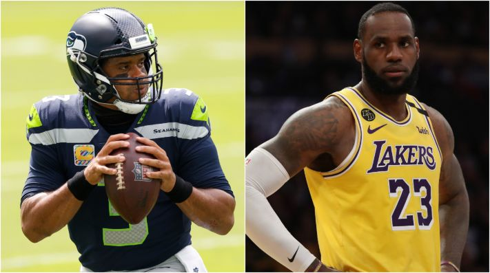 Russell Wilson y LeBron James