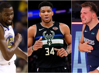 Kevin Durant, Giannis Antetokounmpo y Luka Doncic